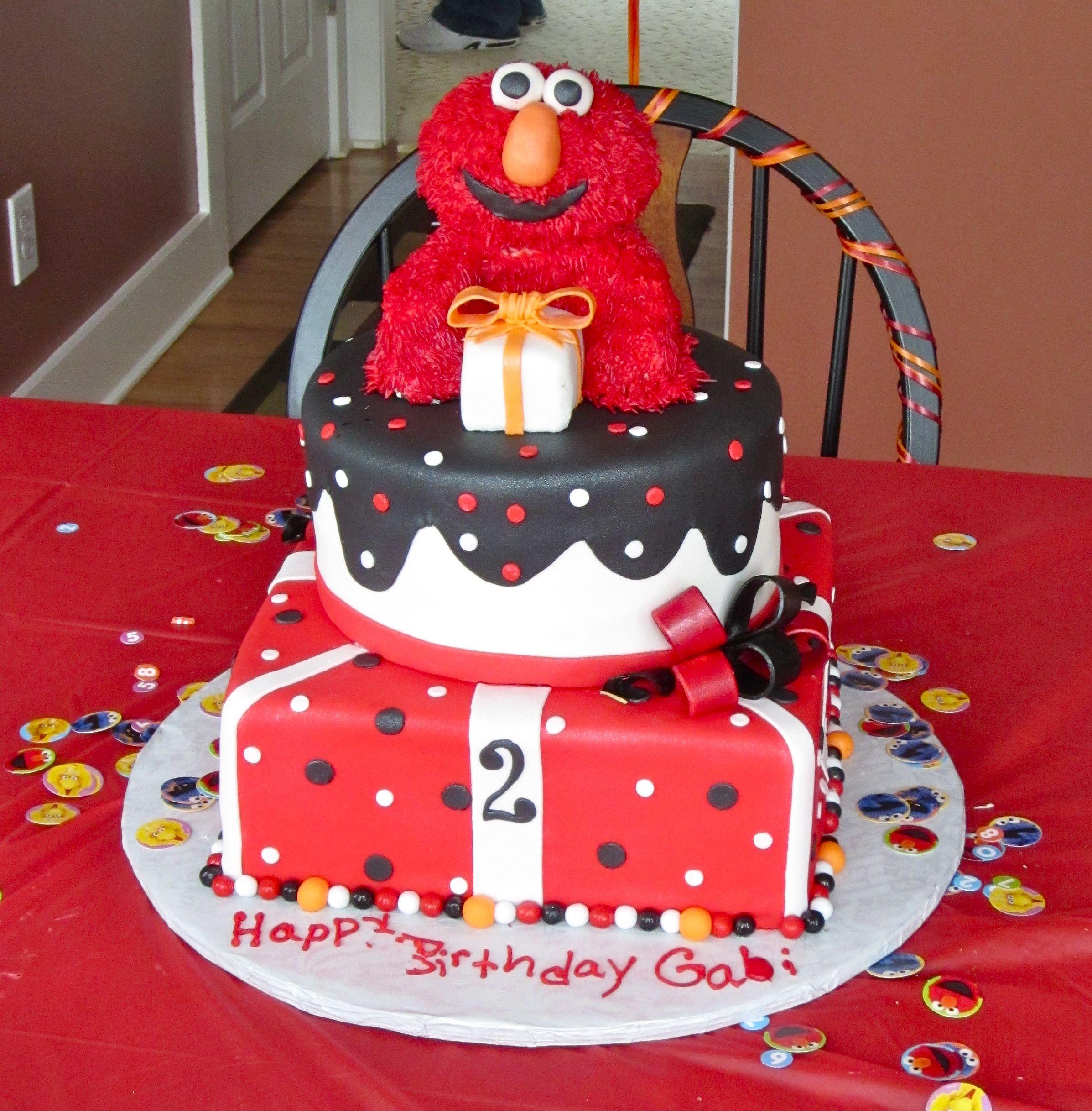 elmo birthday cake Corbin Dean Pinterest
