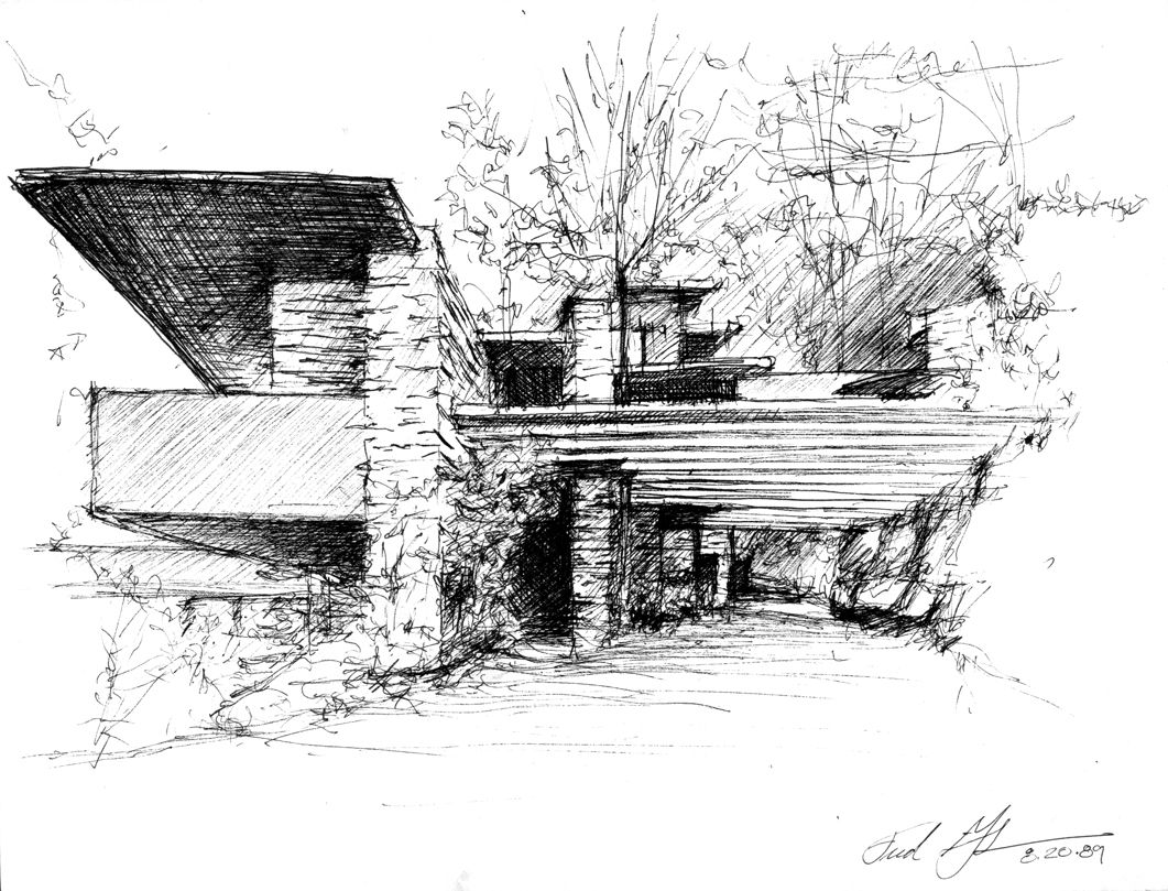 Frank lloyd wright architecture drawing pinterest for Architecture frank lloyd wright