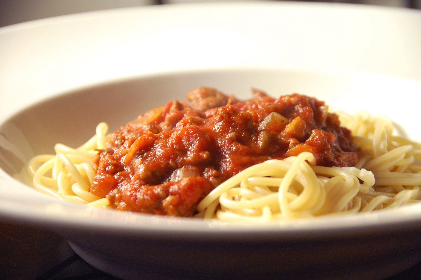 Italian spaghetti with meat sauce. | Food/Beverages | Pinterest