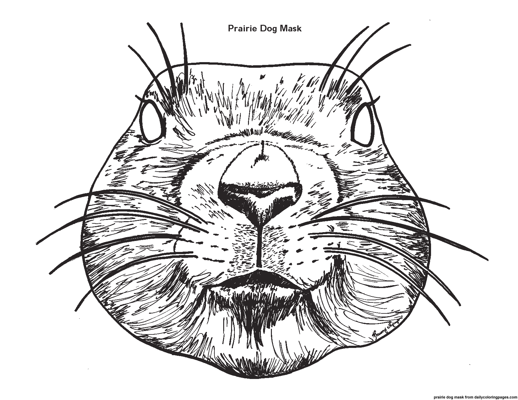 Coloring pages of a prairie dog - a-k-b.info