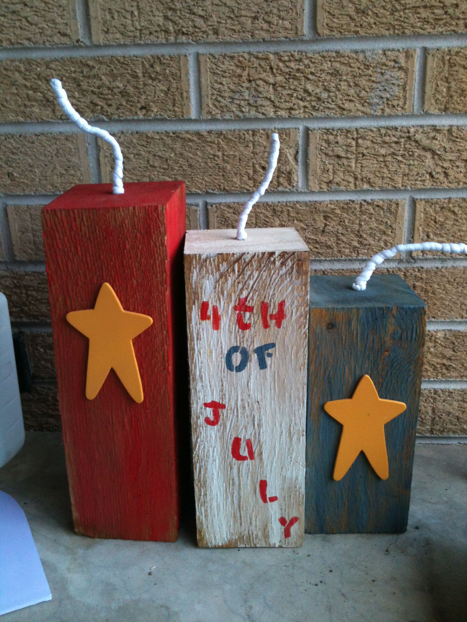 4th of july wood decorations