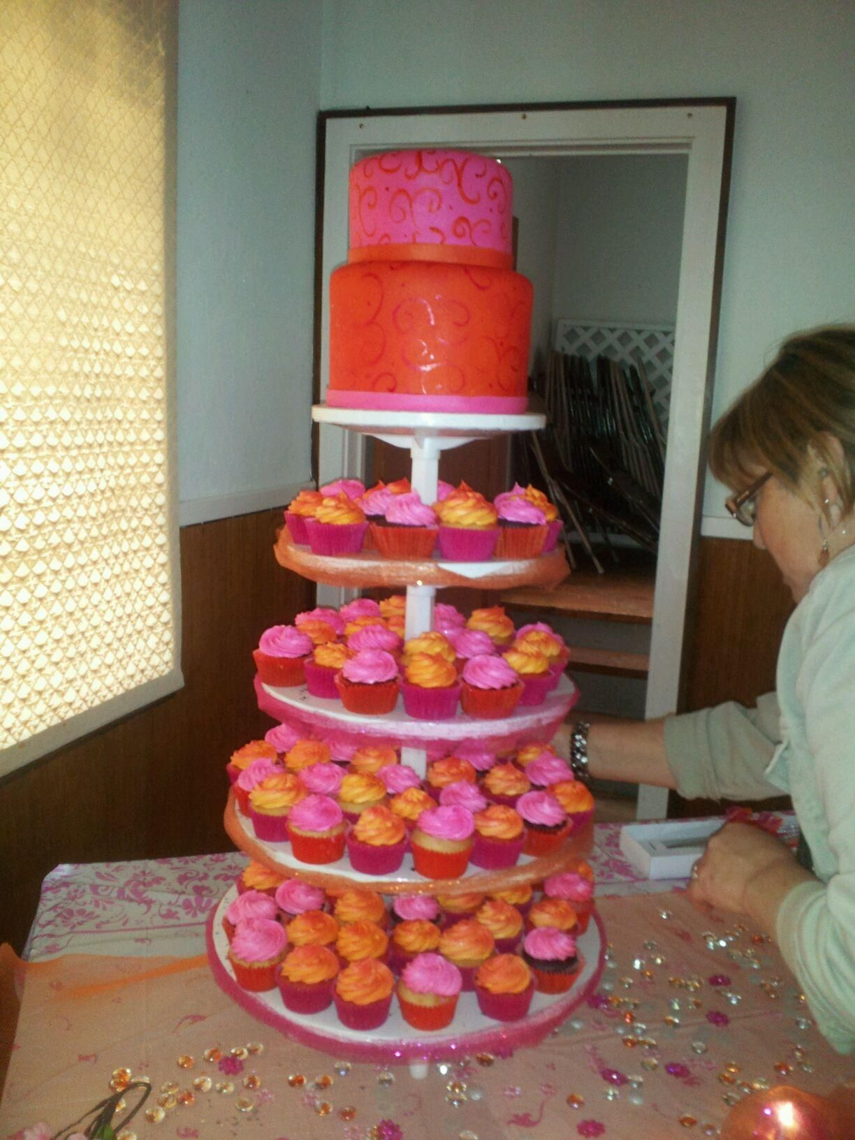 ShareQuinceanera Cakes With Cupcakes