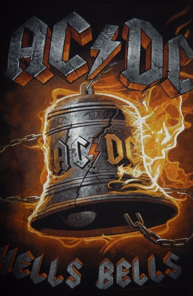 Ac Dc Hells Bells Shirt Size Xl Rock Music Axle Rose