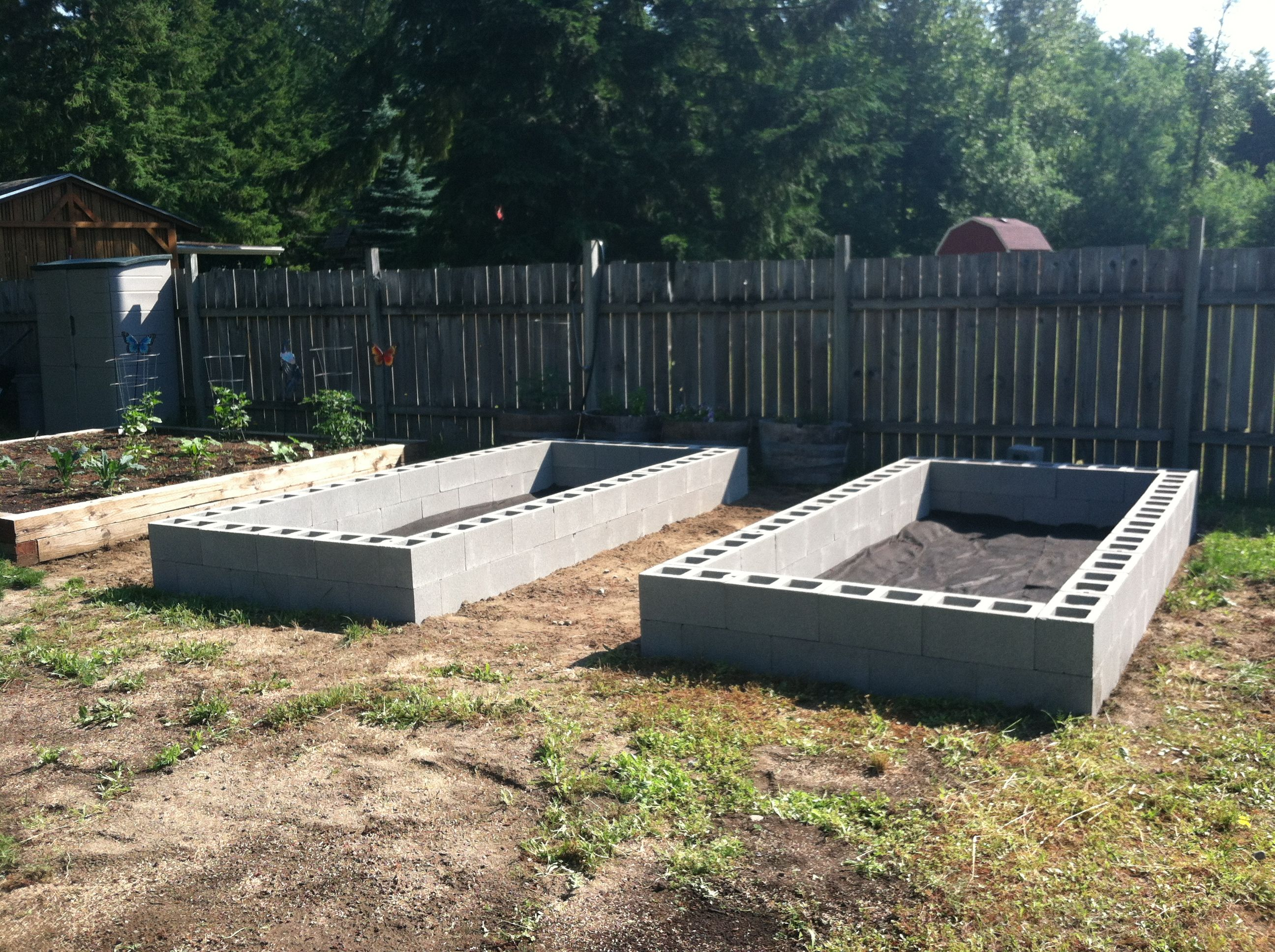 Cinder block raised beds  Garden  Pinterest