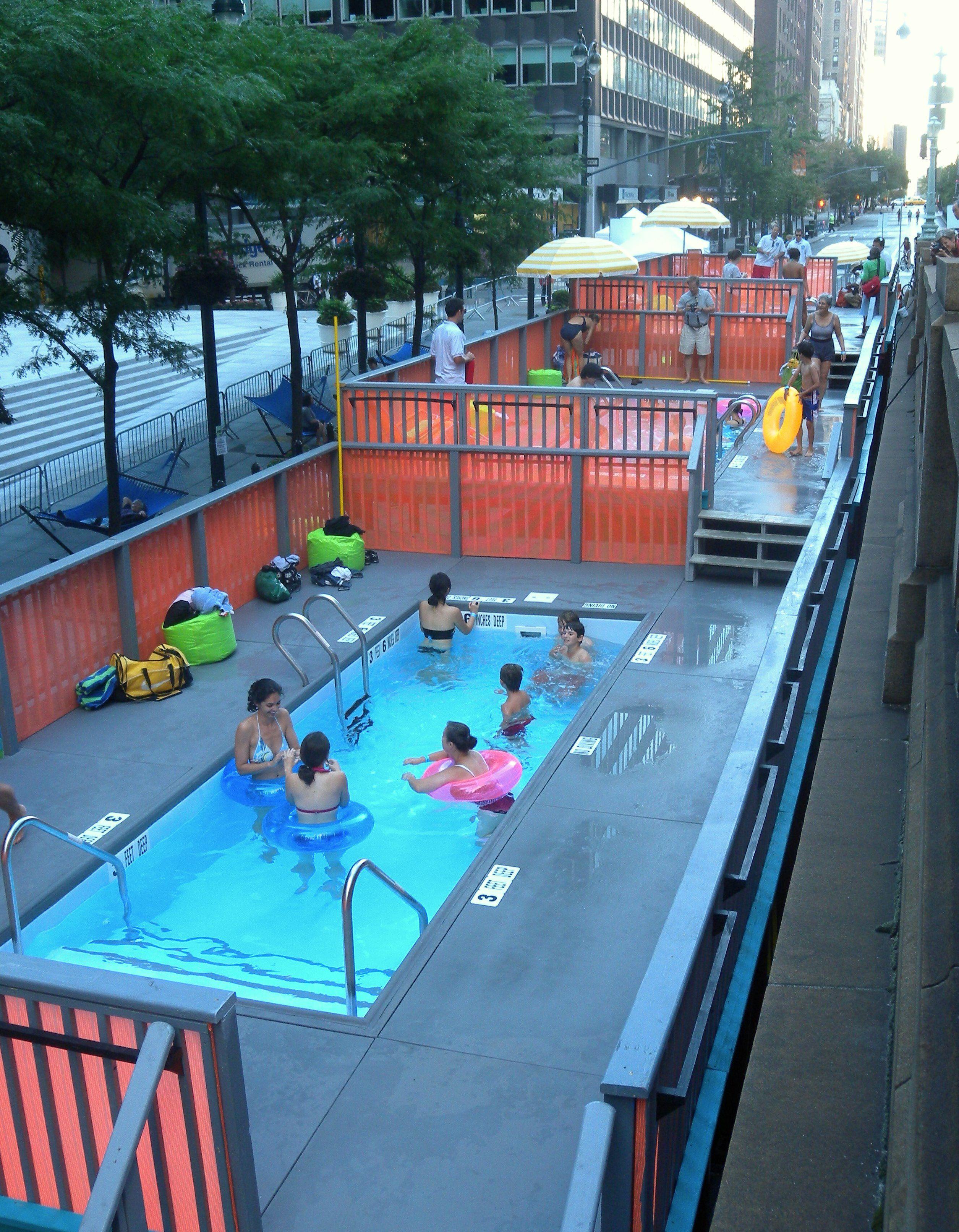 Repurposed dumpster pools in nyc dream swimming pools for Repurposed swimming pool