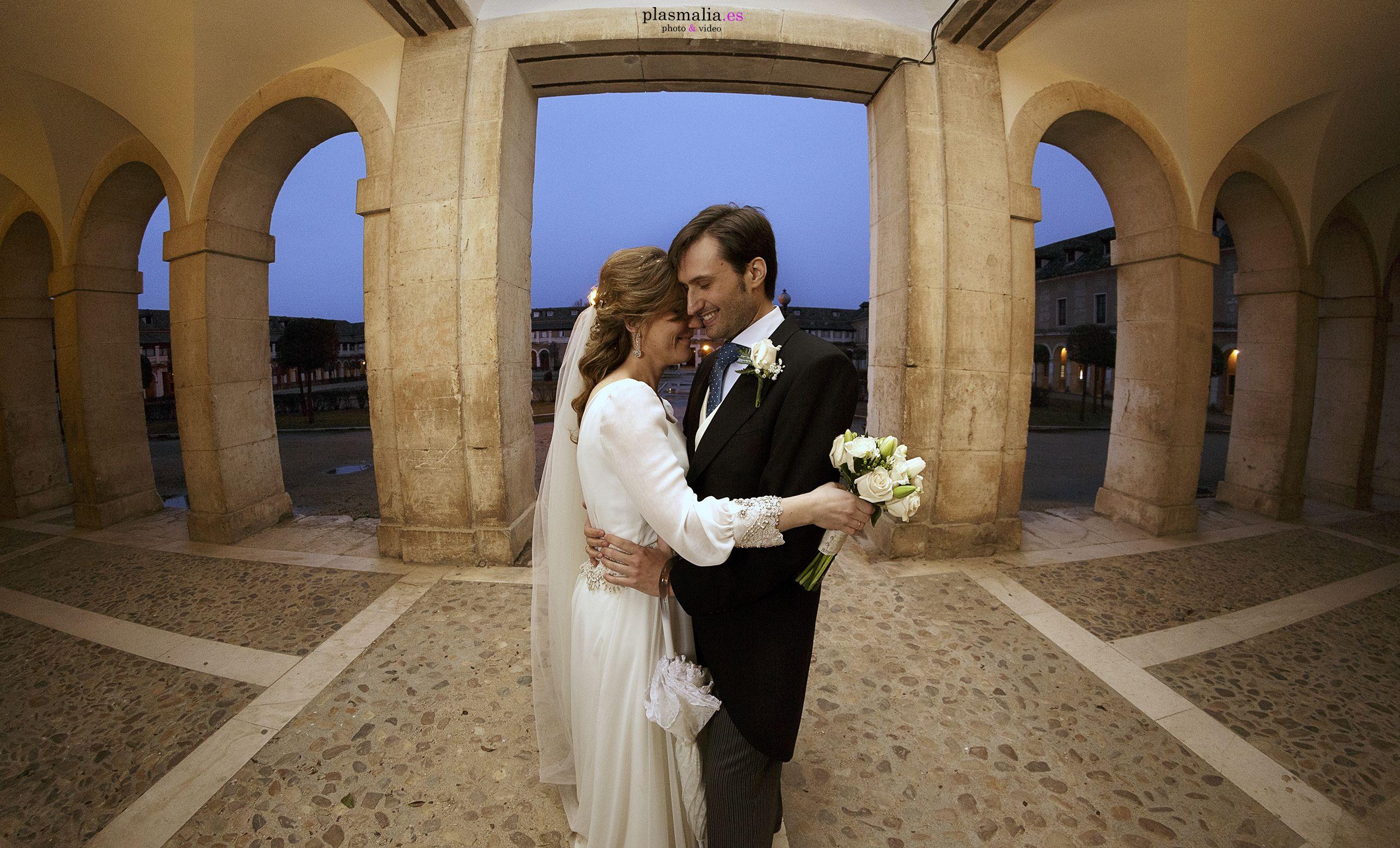 Unas fotografías de boda nocturnas en el Palacio Real De Aranjuez