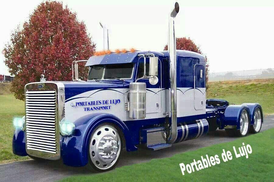 Peterbilt Tractor Trailer Trucks Pinterest