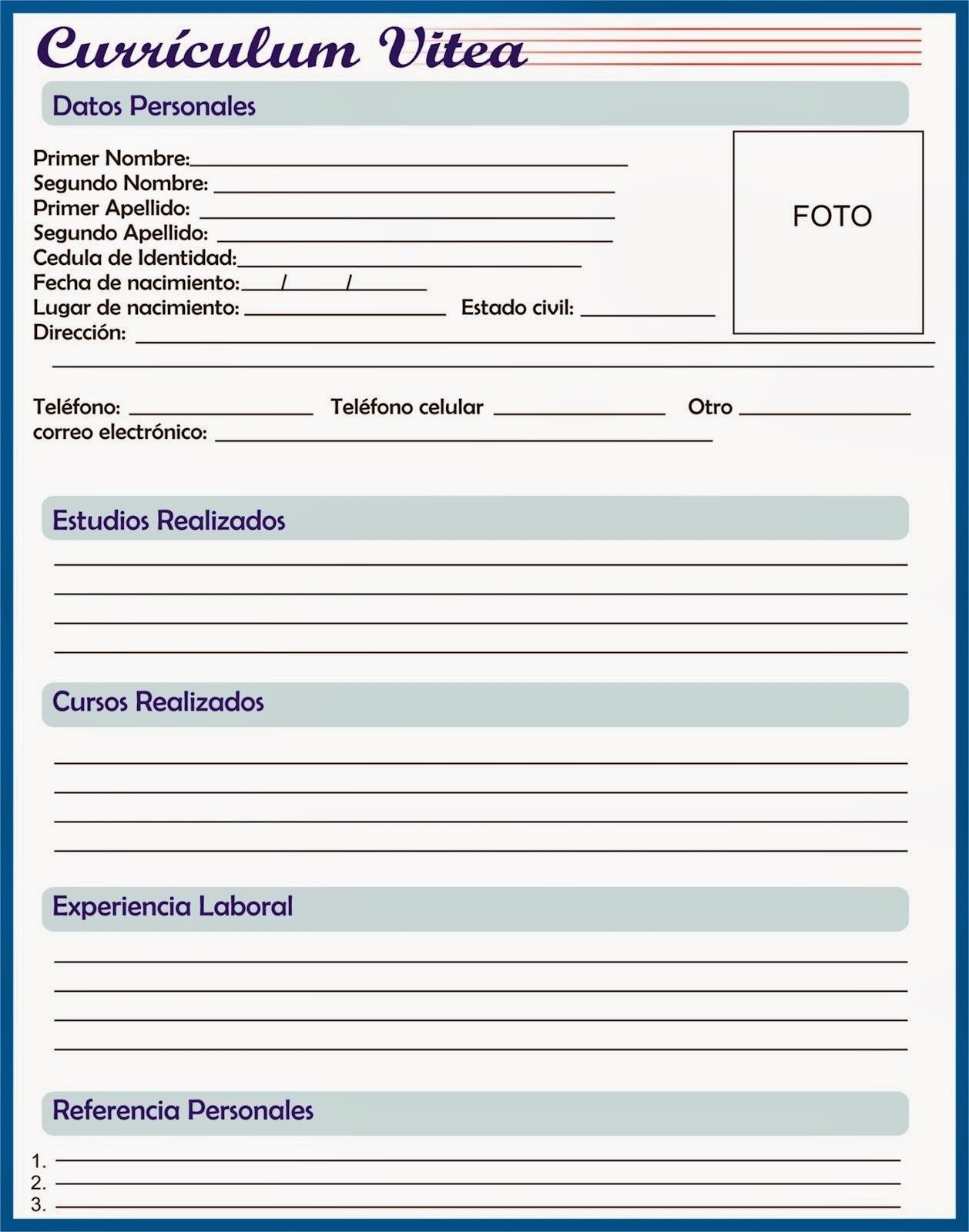 Curriculum Vitae Download Basico