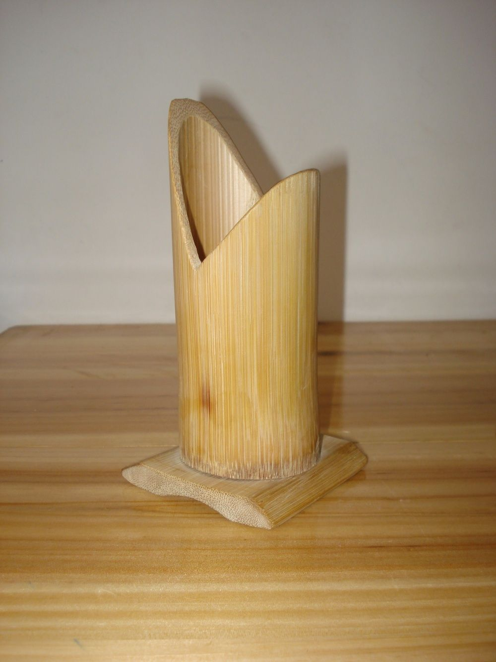 Bamboo candle bamboo projects pinterest for Crafts using bamboo