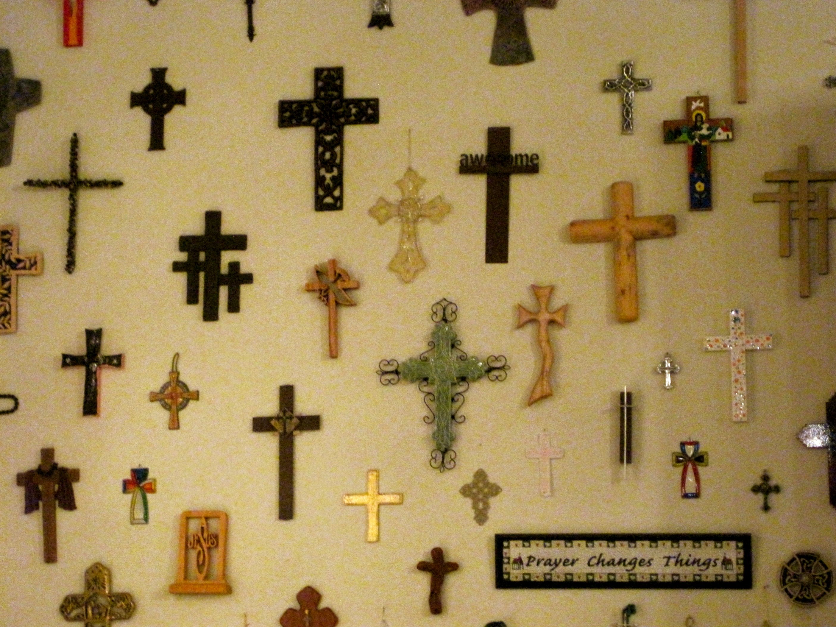 Neat wall of crosses home decor pinterest Home decor wall crosses