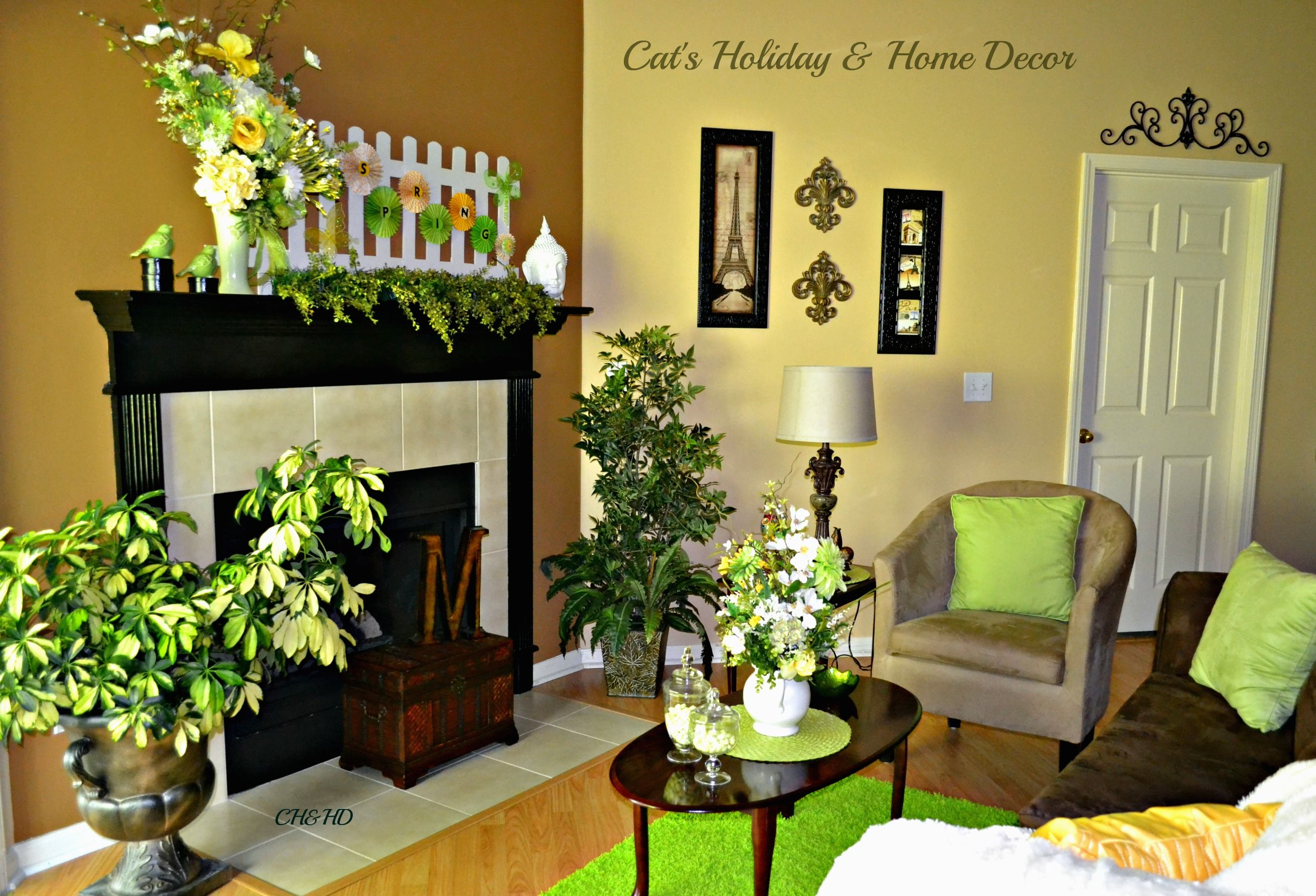 Spring decor for living room easter and spring pinterest Spring decorating ideas