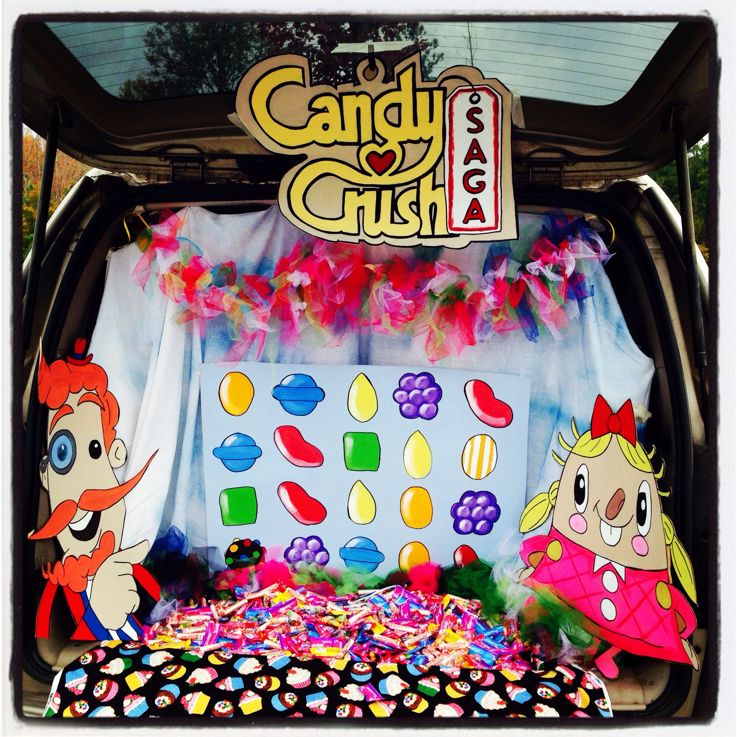 candy crush trunk theme