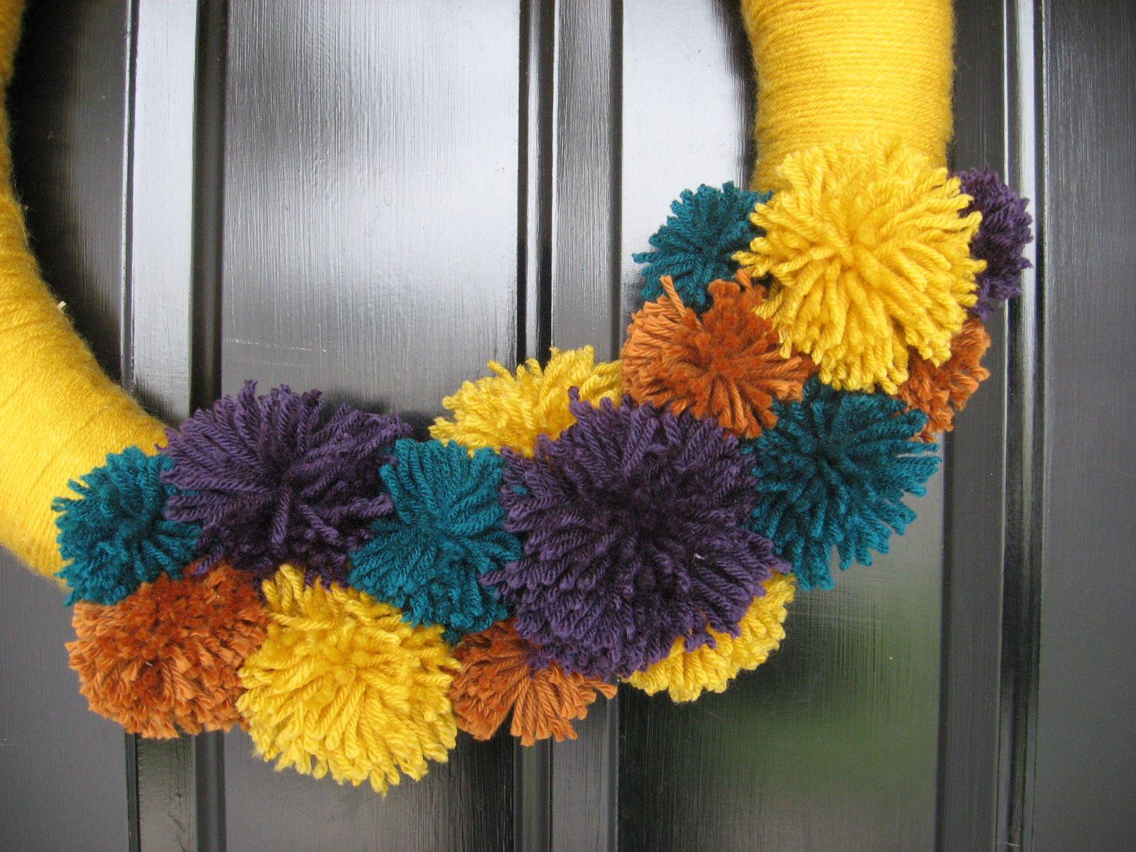 Yarn Wreath | Wreaths | Pinterest