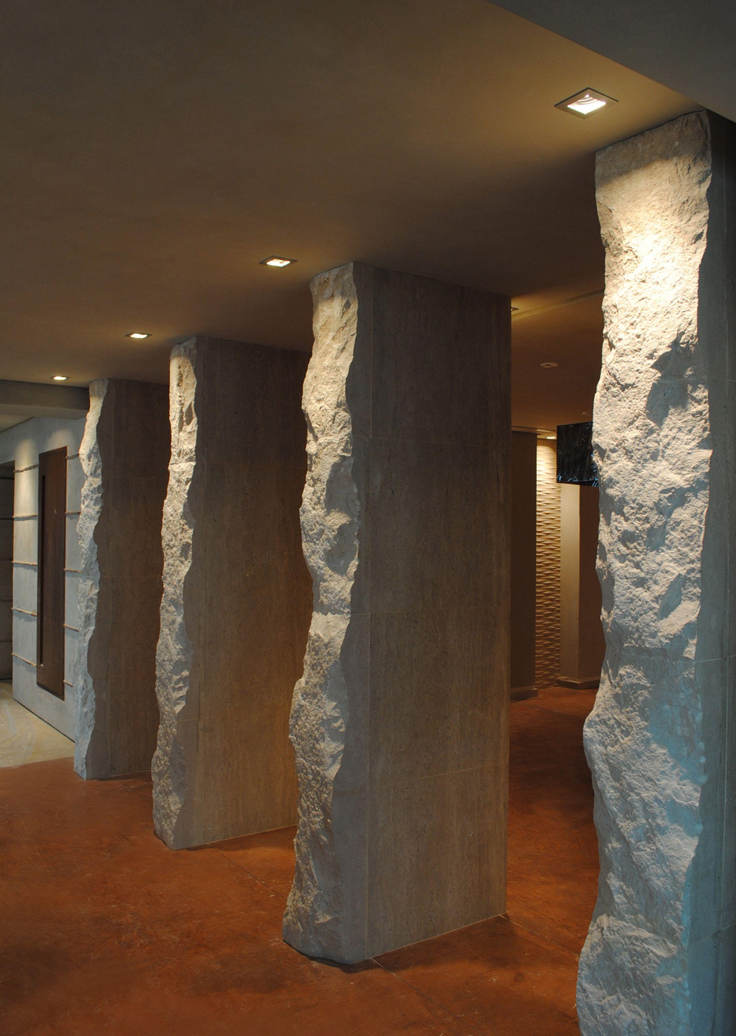 Marble Column Wall : Natural stone columns walls pillars and
