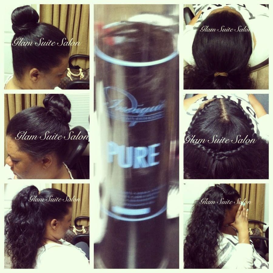 Full Sew In With Minimal Hair Left Out Sew In Wversatility | Short ...