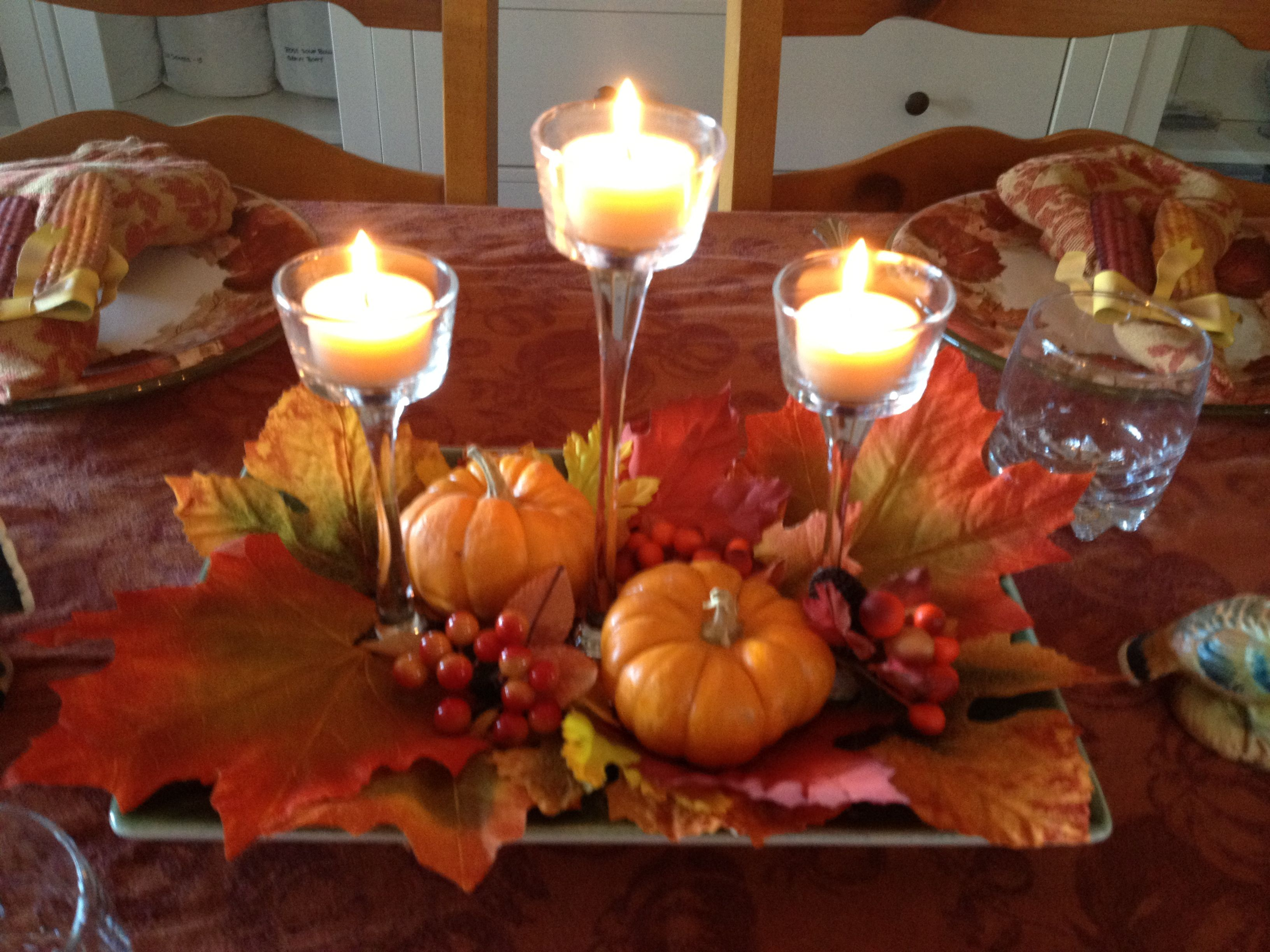 Thanksgiving centerpiece happy holidays pinterest