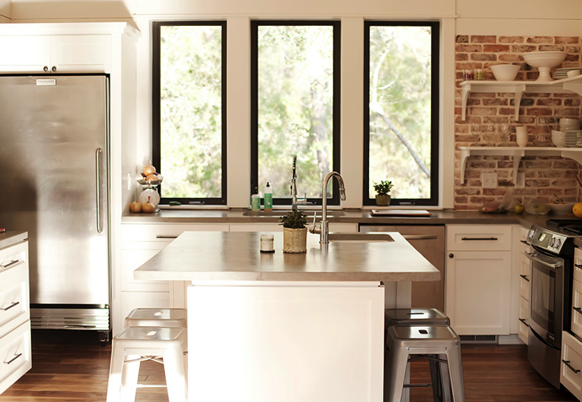 Exposed Brick Beauty Fridge Kitchen Pinterest