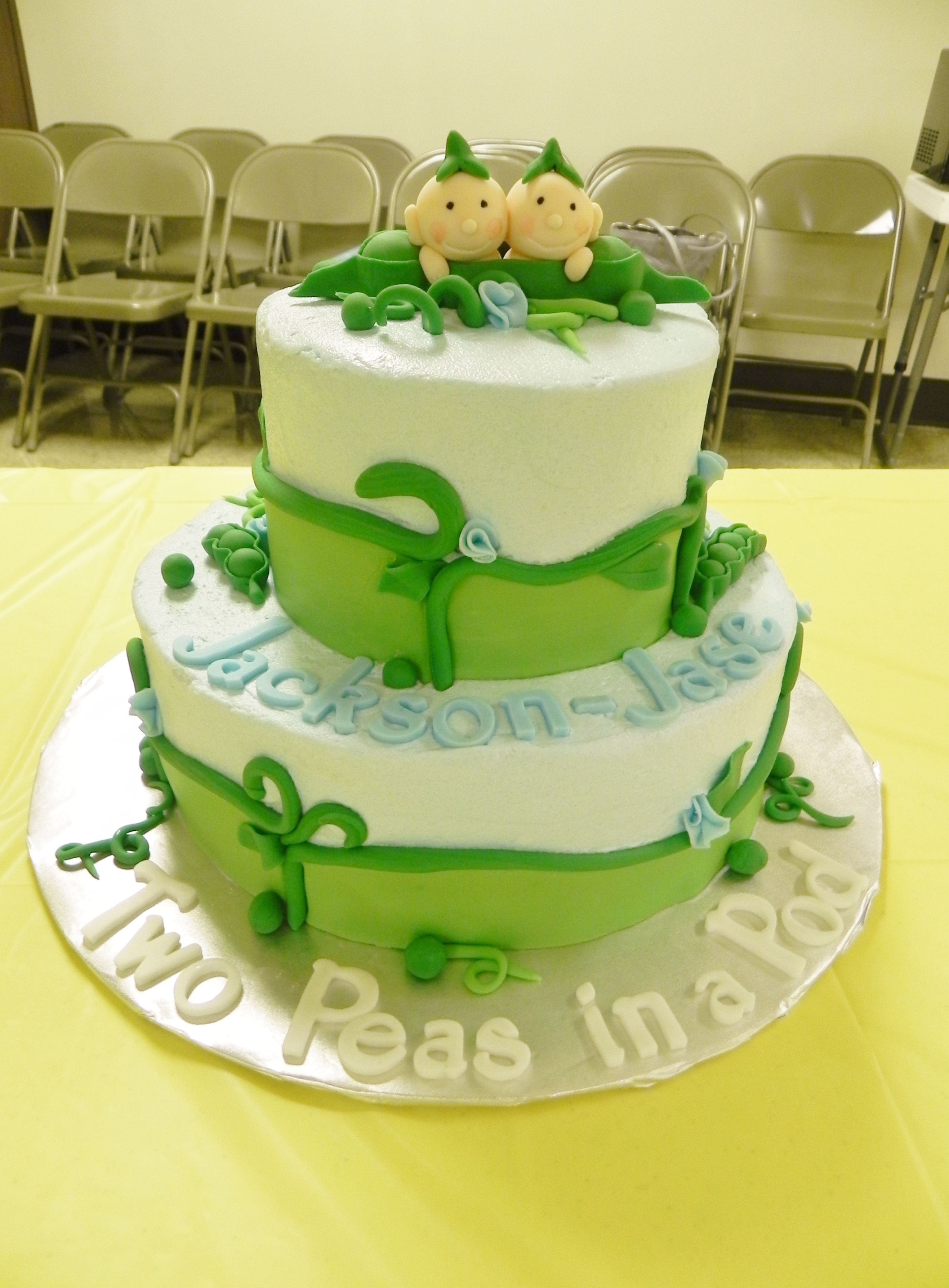 two peas in a pod baby shower cake party ideas pinterest