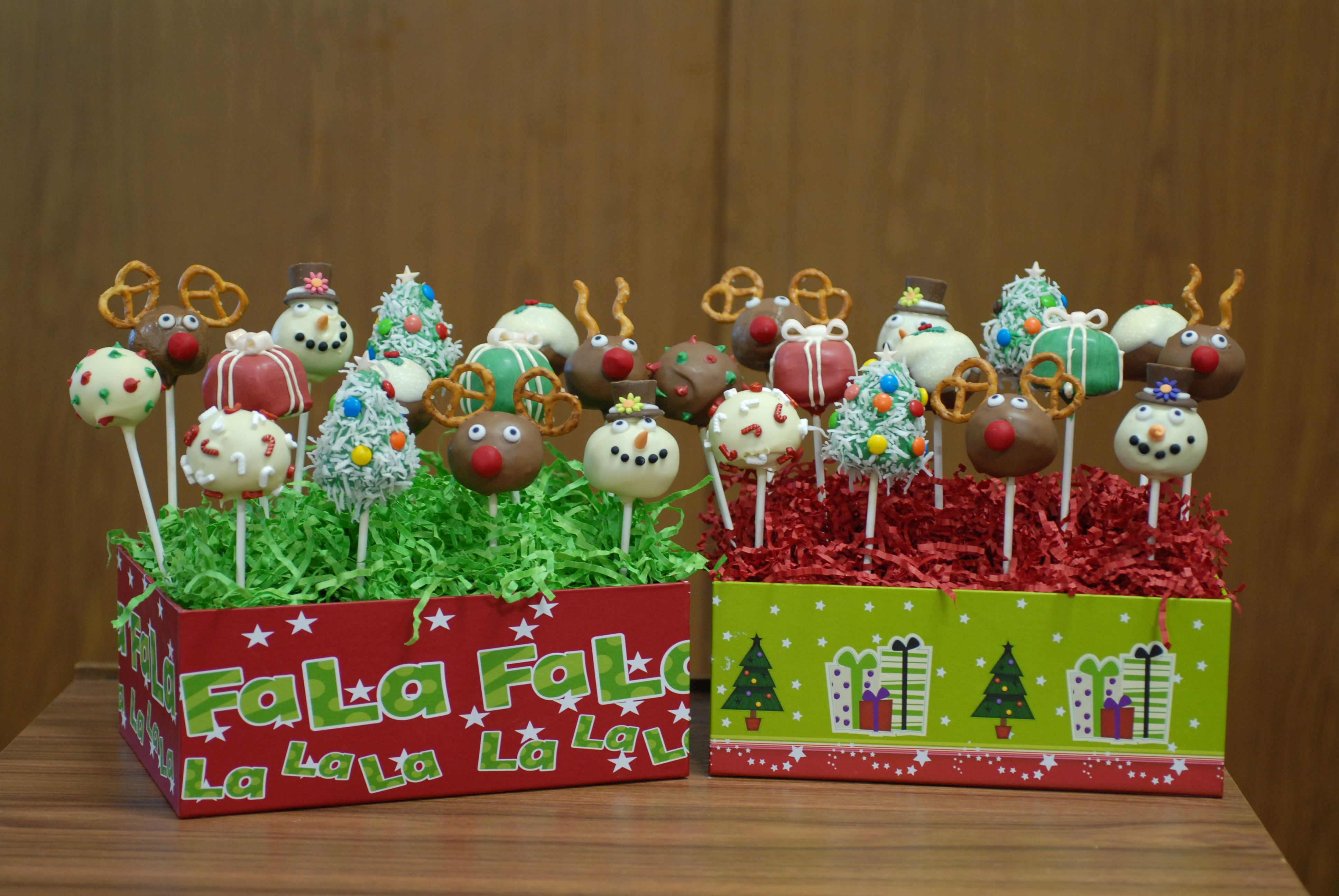 Christmas Cake Pops Christmas Ideas Pinterest