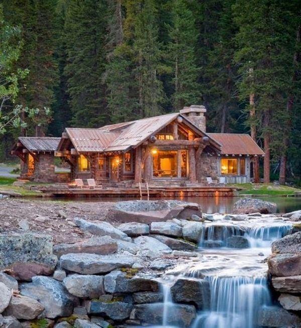 Log Cabin Dream House Ideas Pinterest