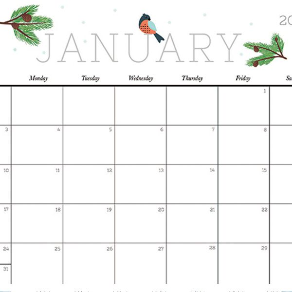 Cute and Crafty 2018 Calendar | Printable calendars, Organizing ...