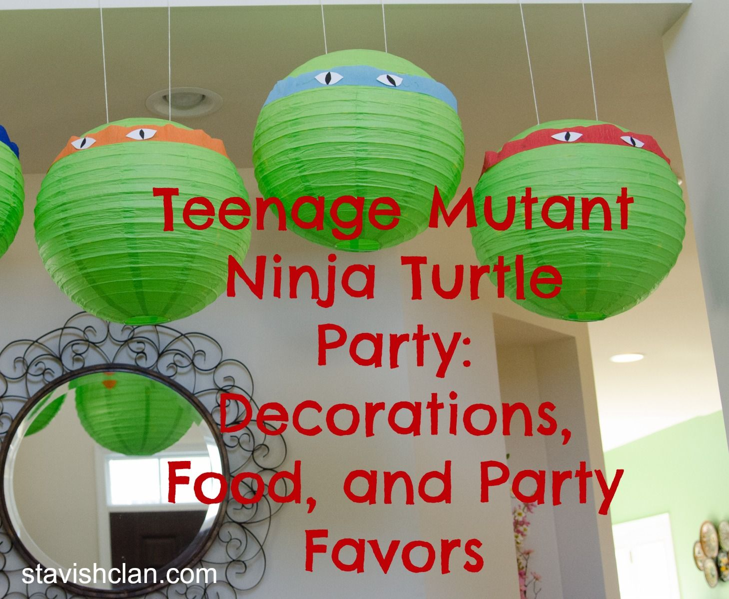 This is perfect ninja turtles party pinterest for Tmnt decorations