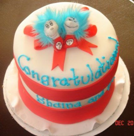 cat in the hat cake for a baby shower cake and a half pinterest