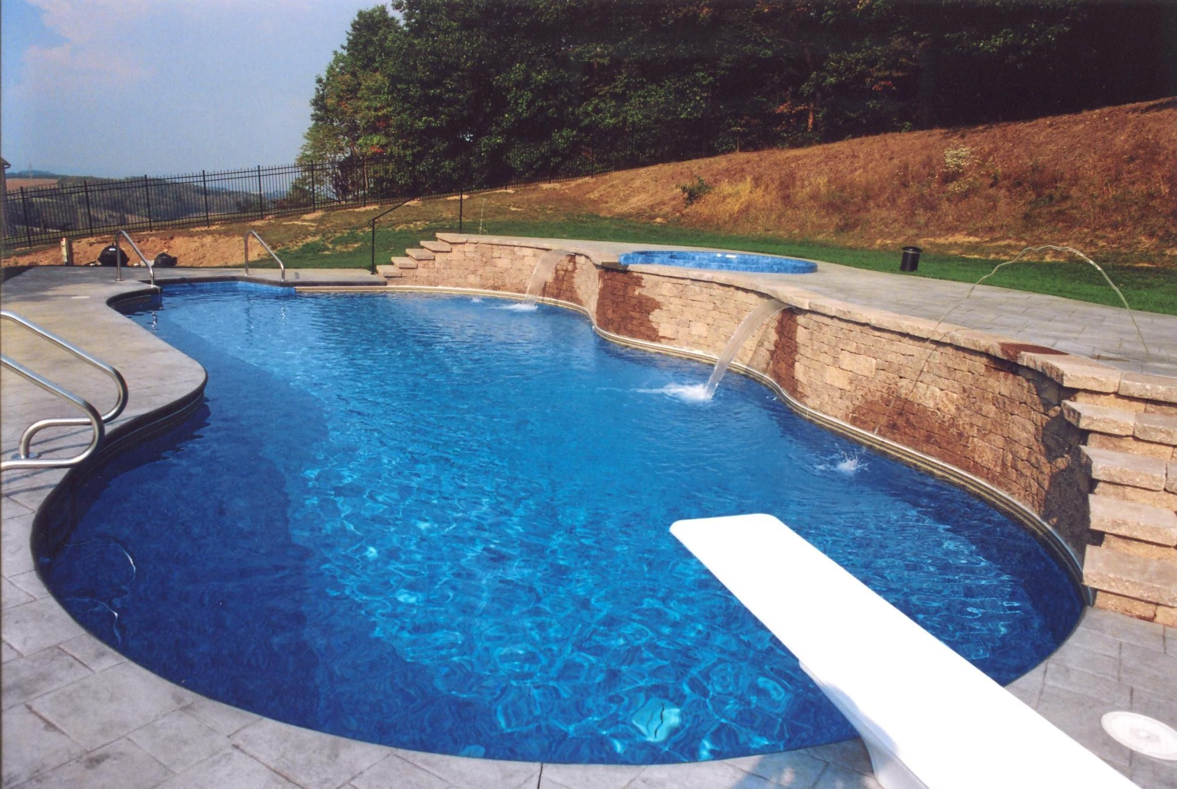 One of the pools we built in ground swimming pools for Built in pools