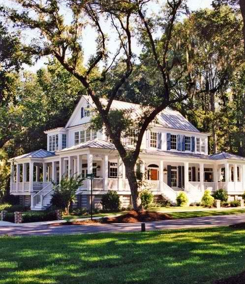 Wrap around porch beautiful home exteriors pinterest for Homes with porches all the way around