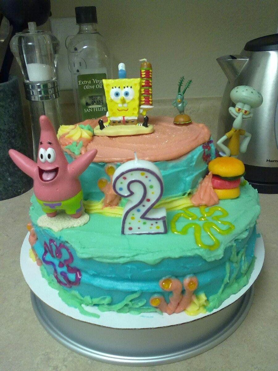 Homemade Spongebob Birthday Cake Birthday Party Ideas