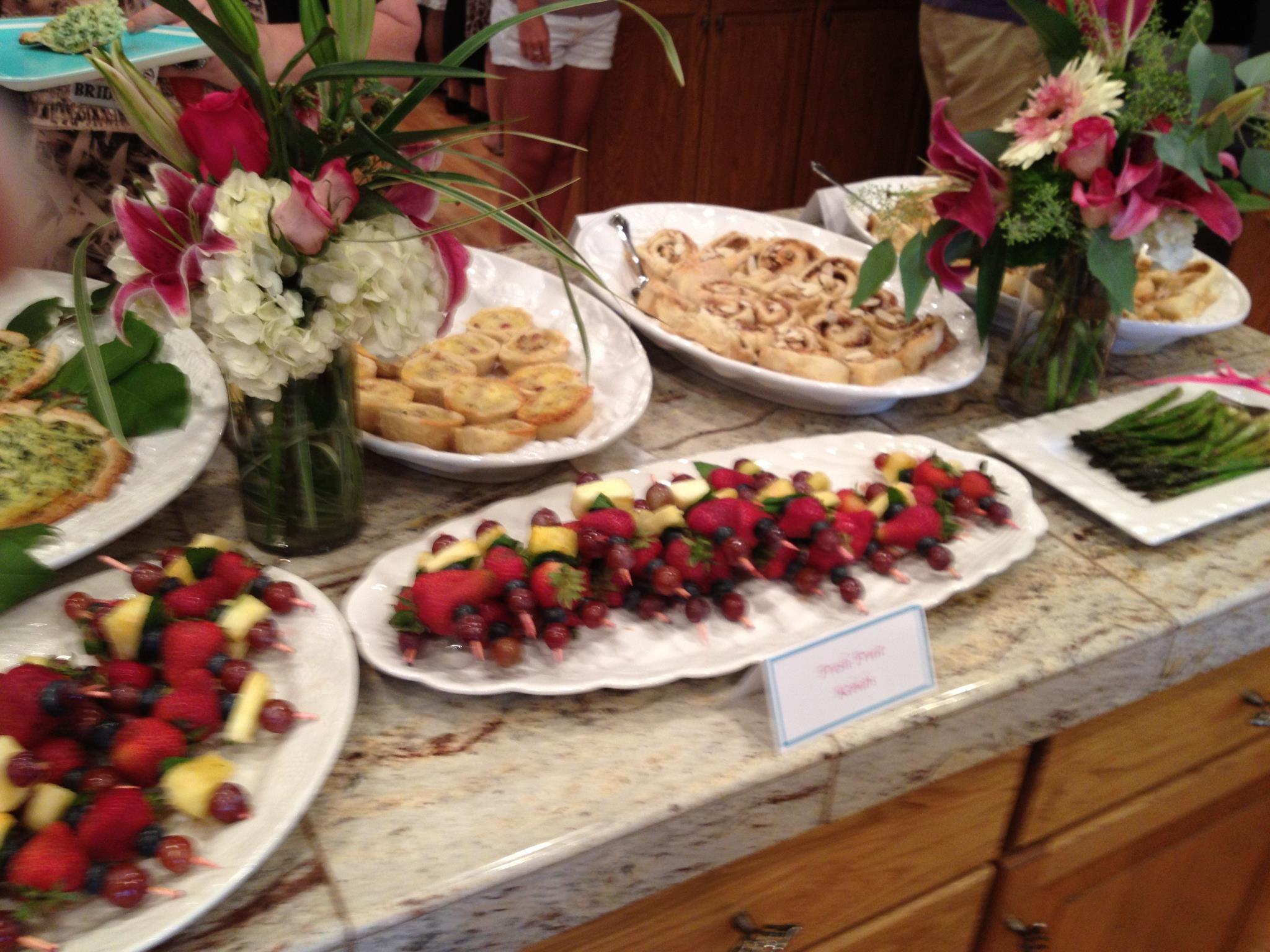 Bridal Shower Food Layout