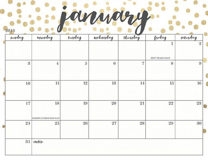 cute printable calendars 2018 monthly free | January 2018 Calendar ...