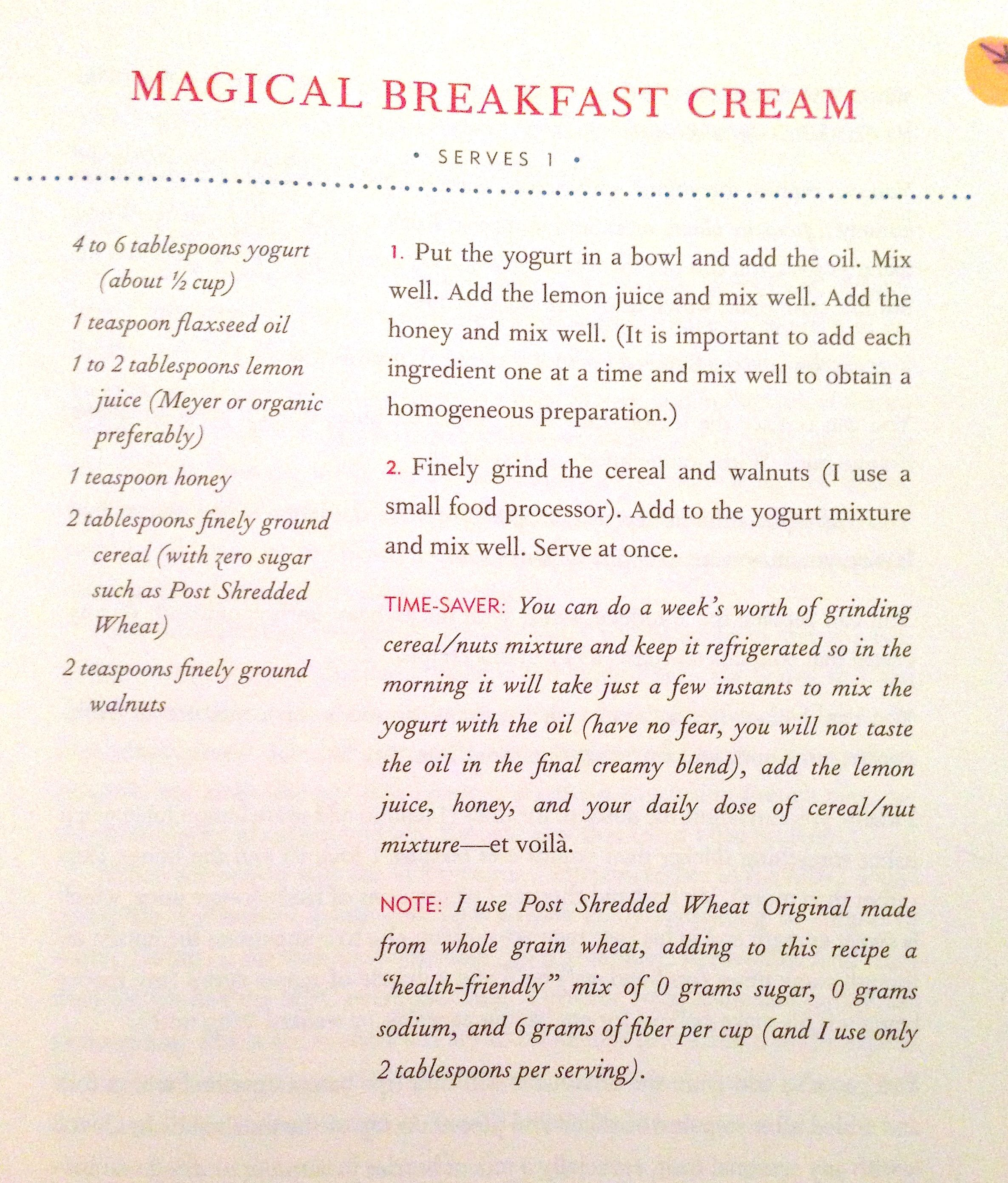 Magical Breakfast Cream | Healthy eating | Pinterest
