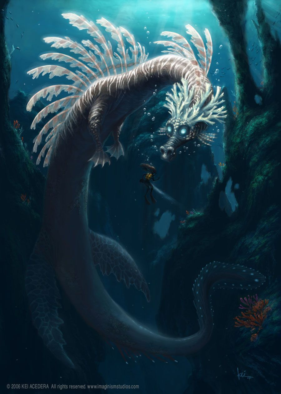 sea dragon | Fantasy. | Pinterest