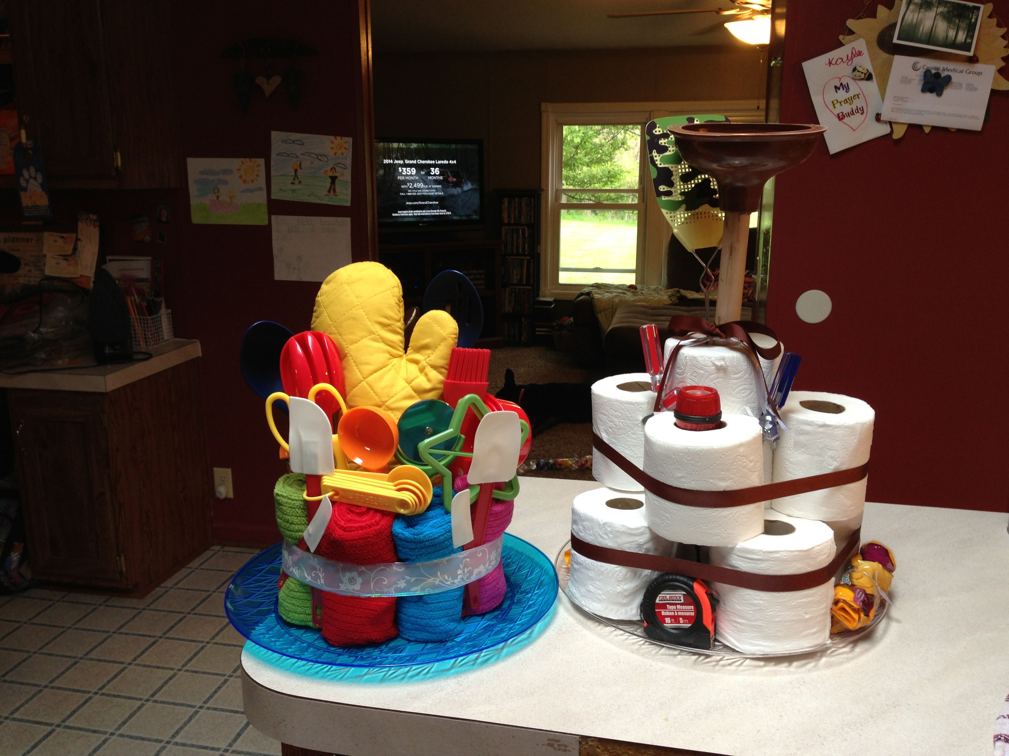 His & Hers wedding shower cakes