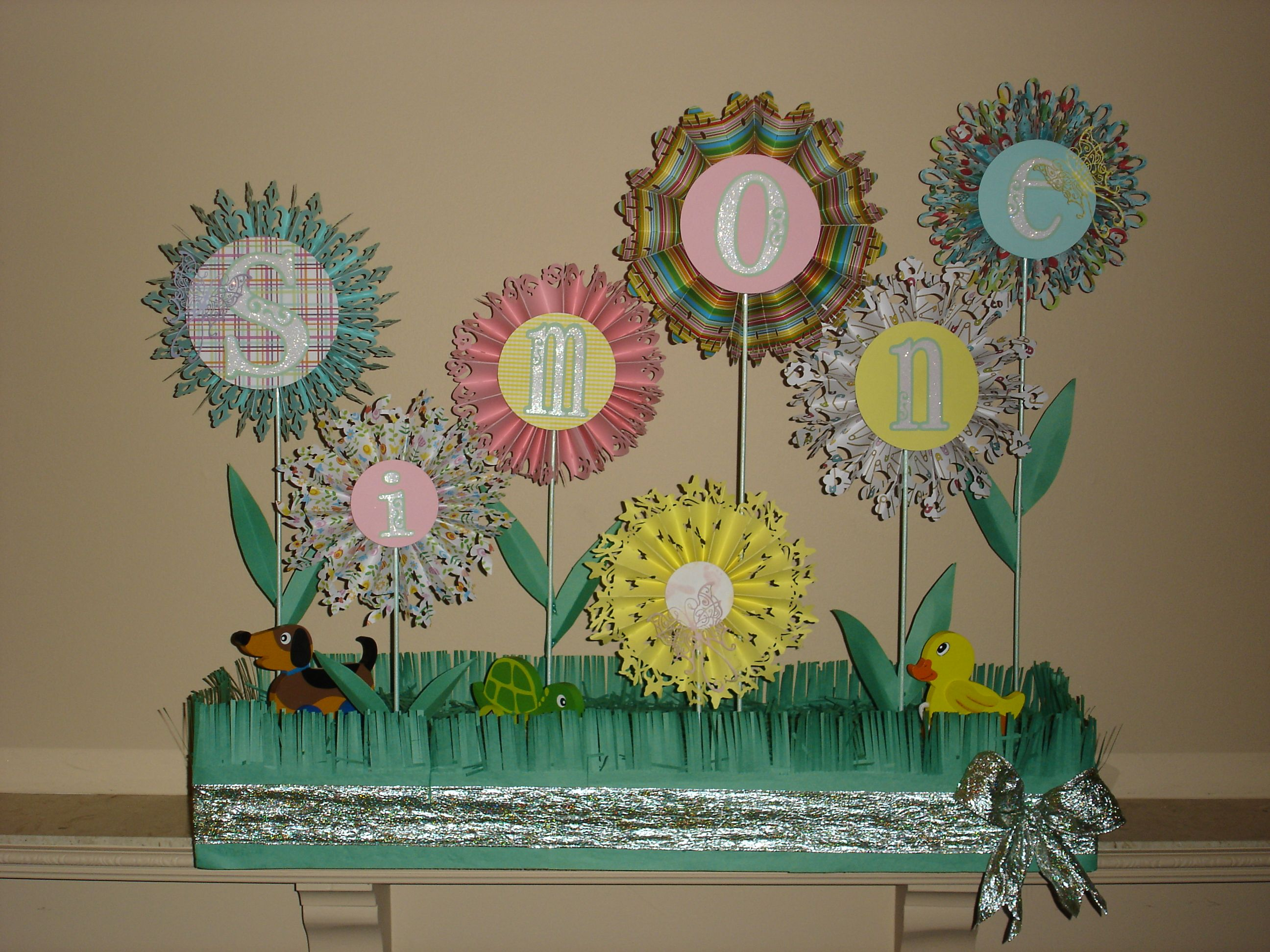 Baby shower decoration craft project craftiness pinterest for Baby shower craft decoration ideas