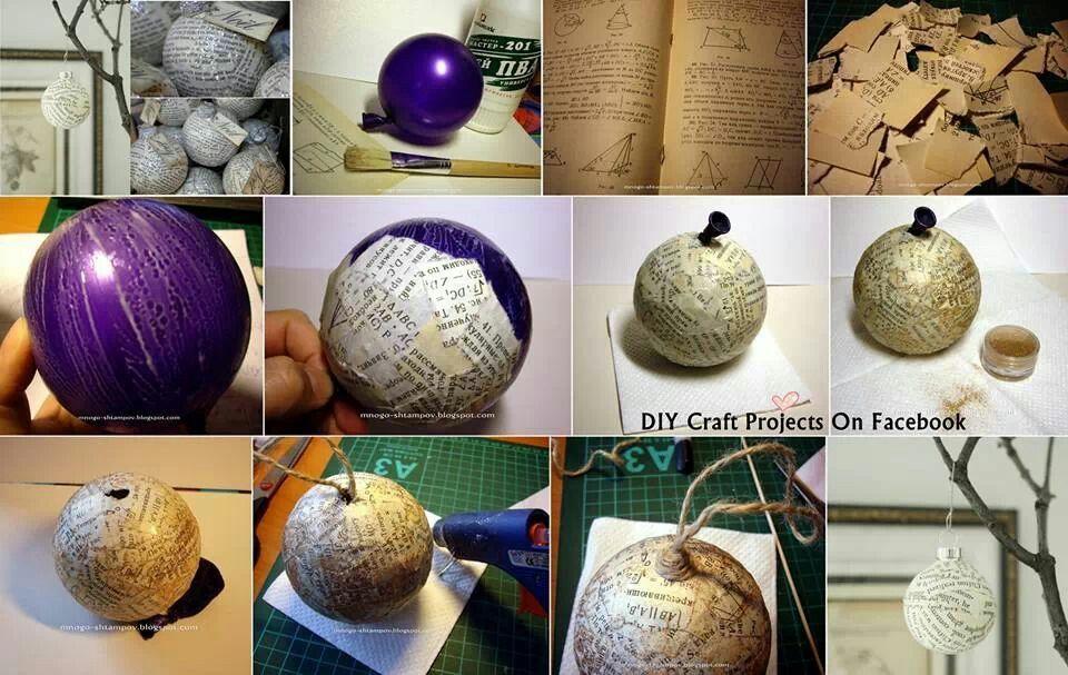 Paper mache christmas ornament ideas pinterest for Paper mache christmas