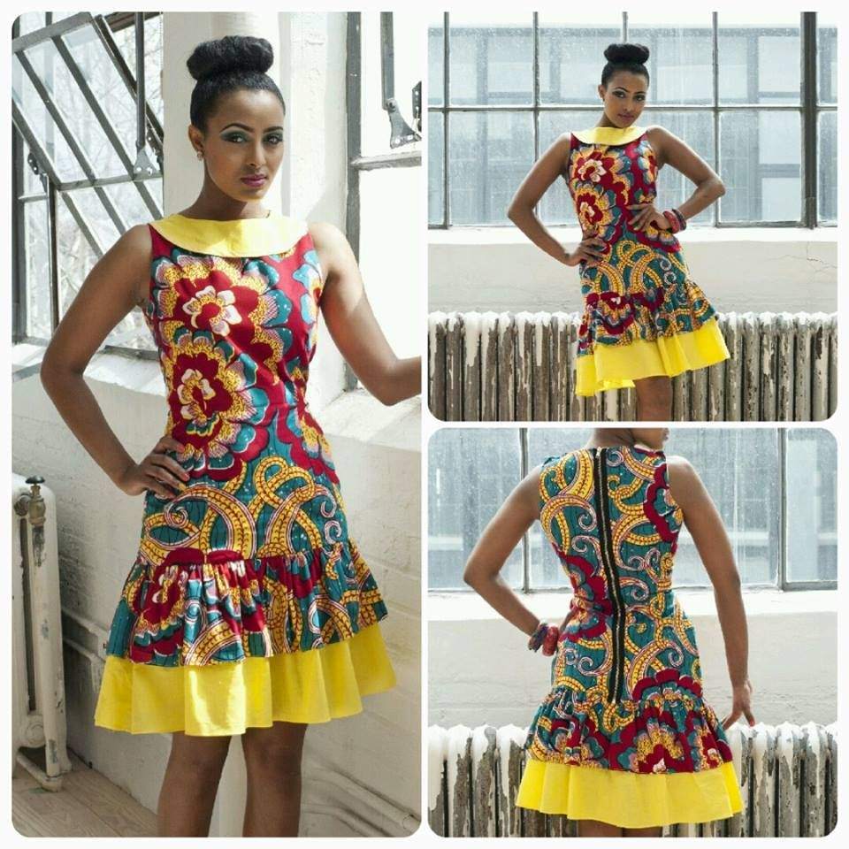 African Style And Fashion African Fashion Short Dresses Pin