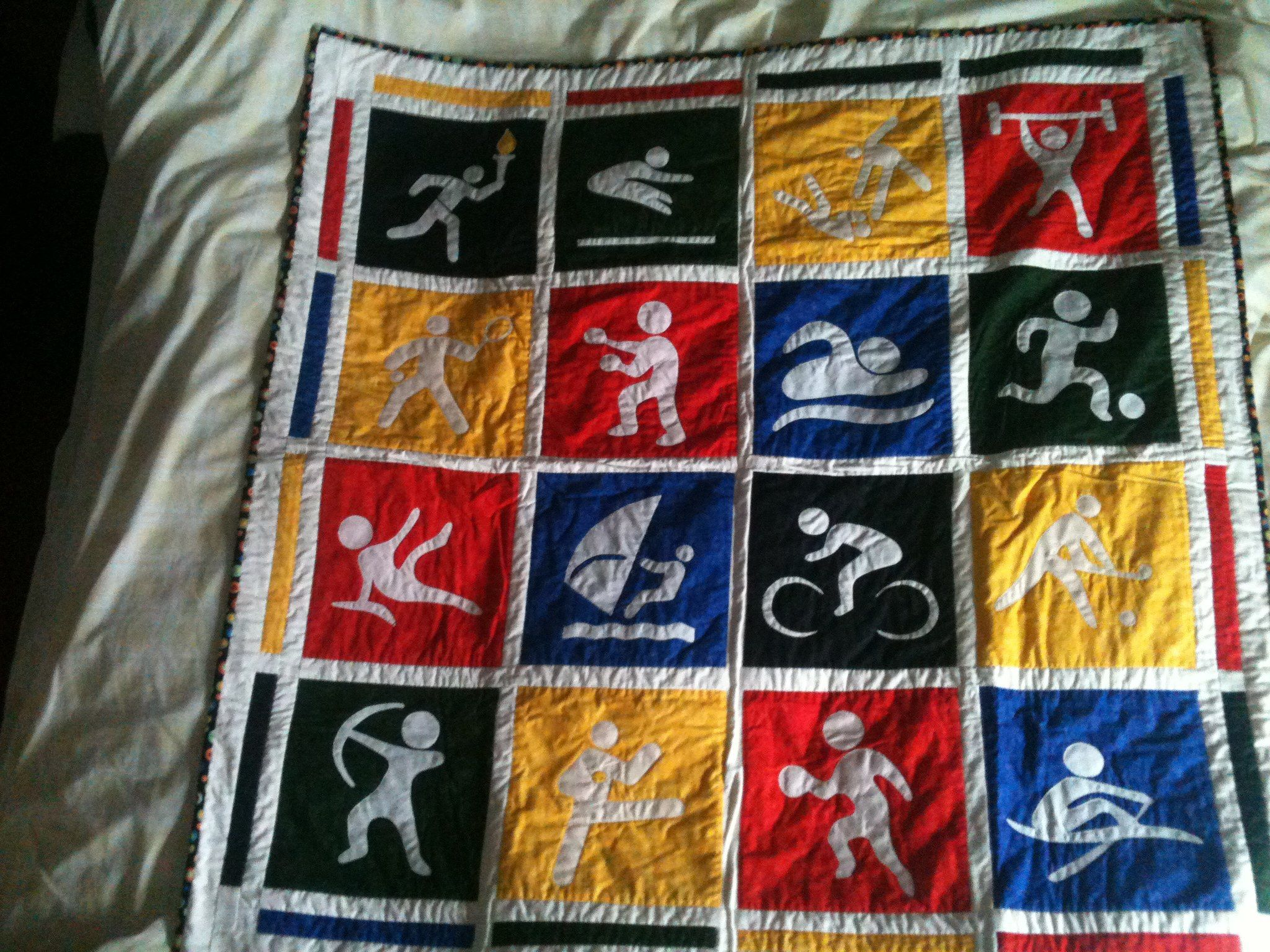 Quilt Patterns For Sports : Sports Quilt Quilts Pinterest