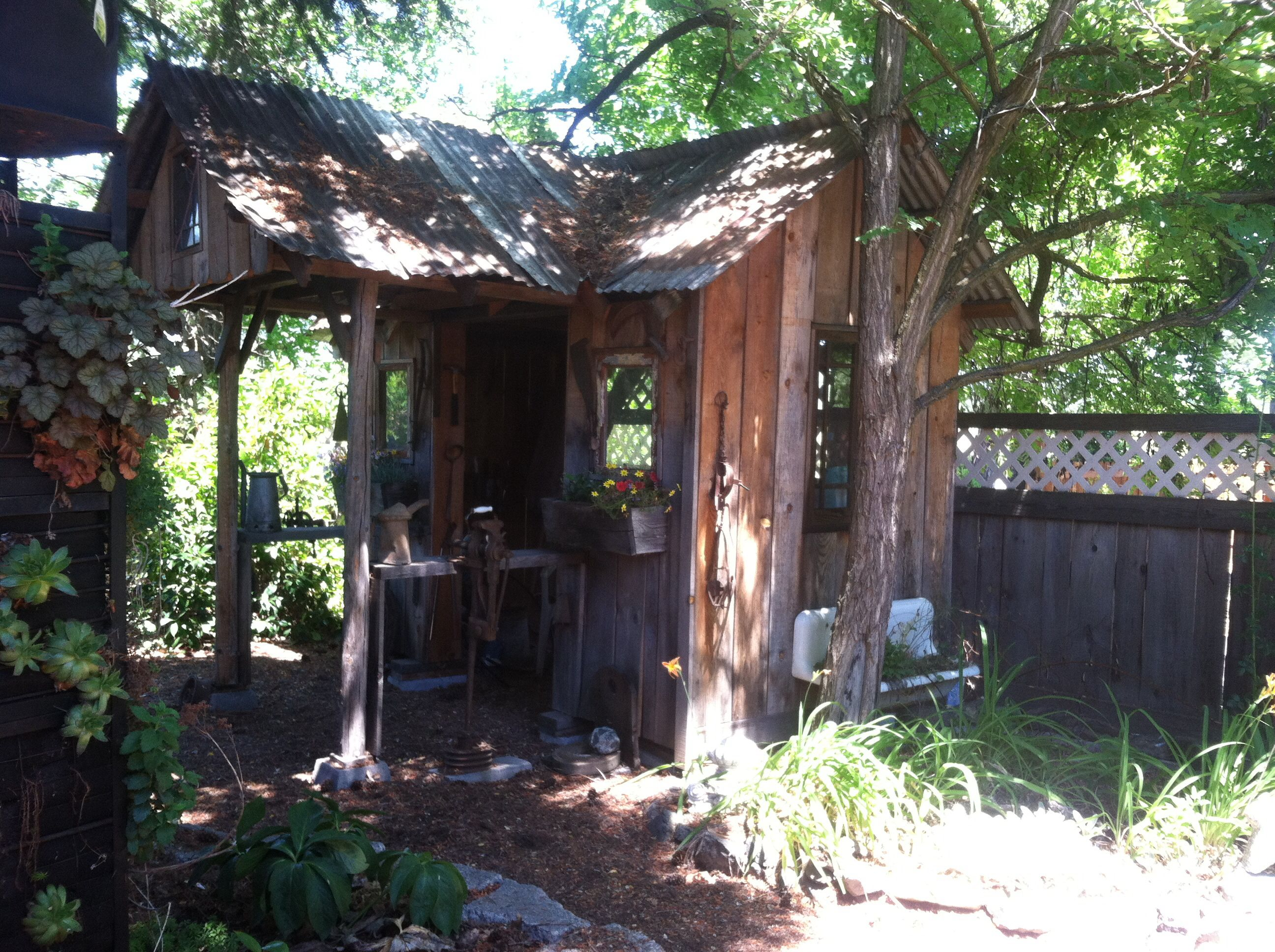 Rustic garden shed Garden shed ideas Pinterest