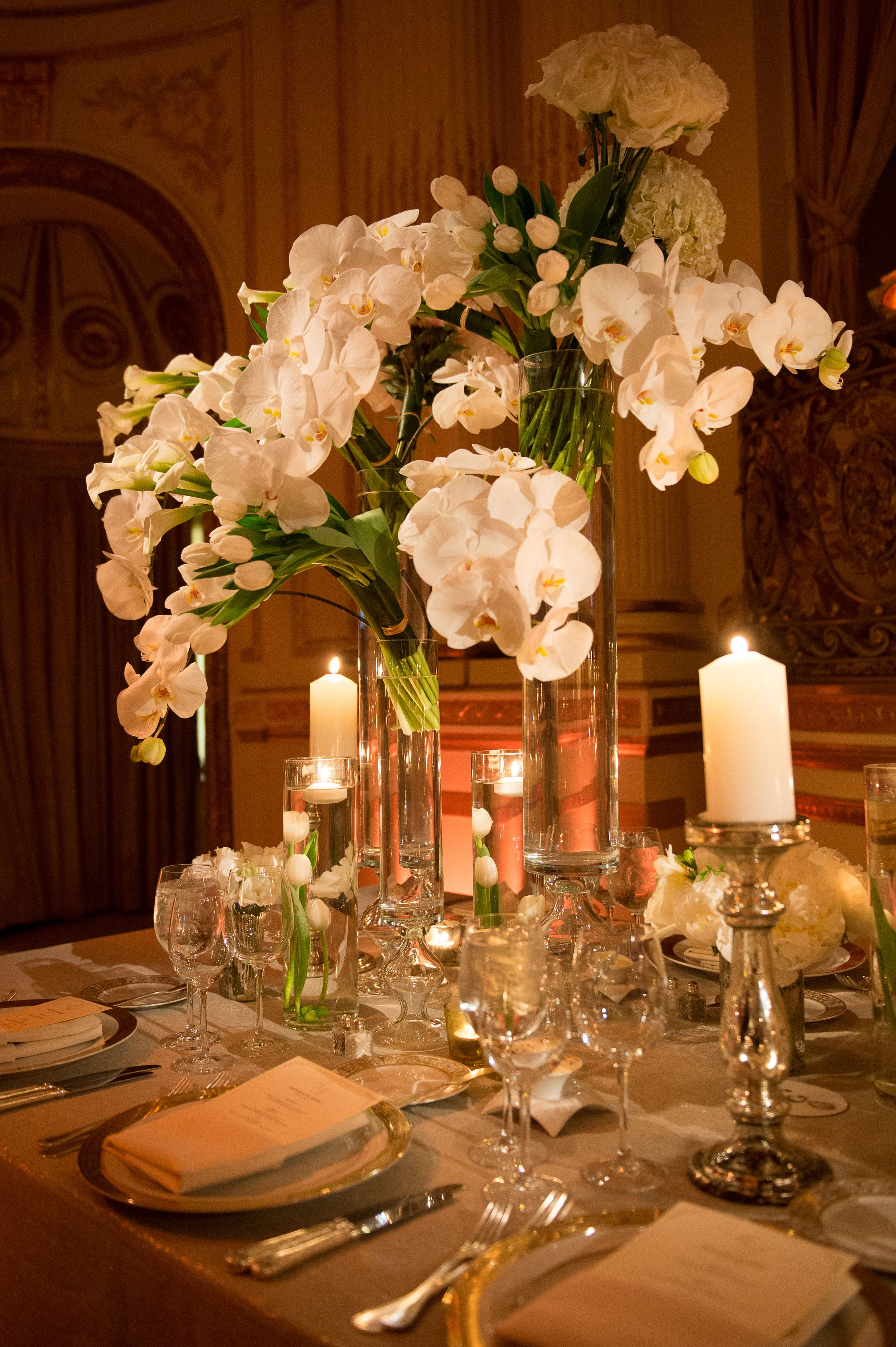 Another centerpiece design wedding reception decor for Elegant table centerpieces