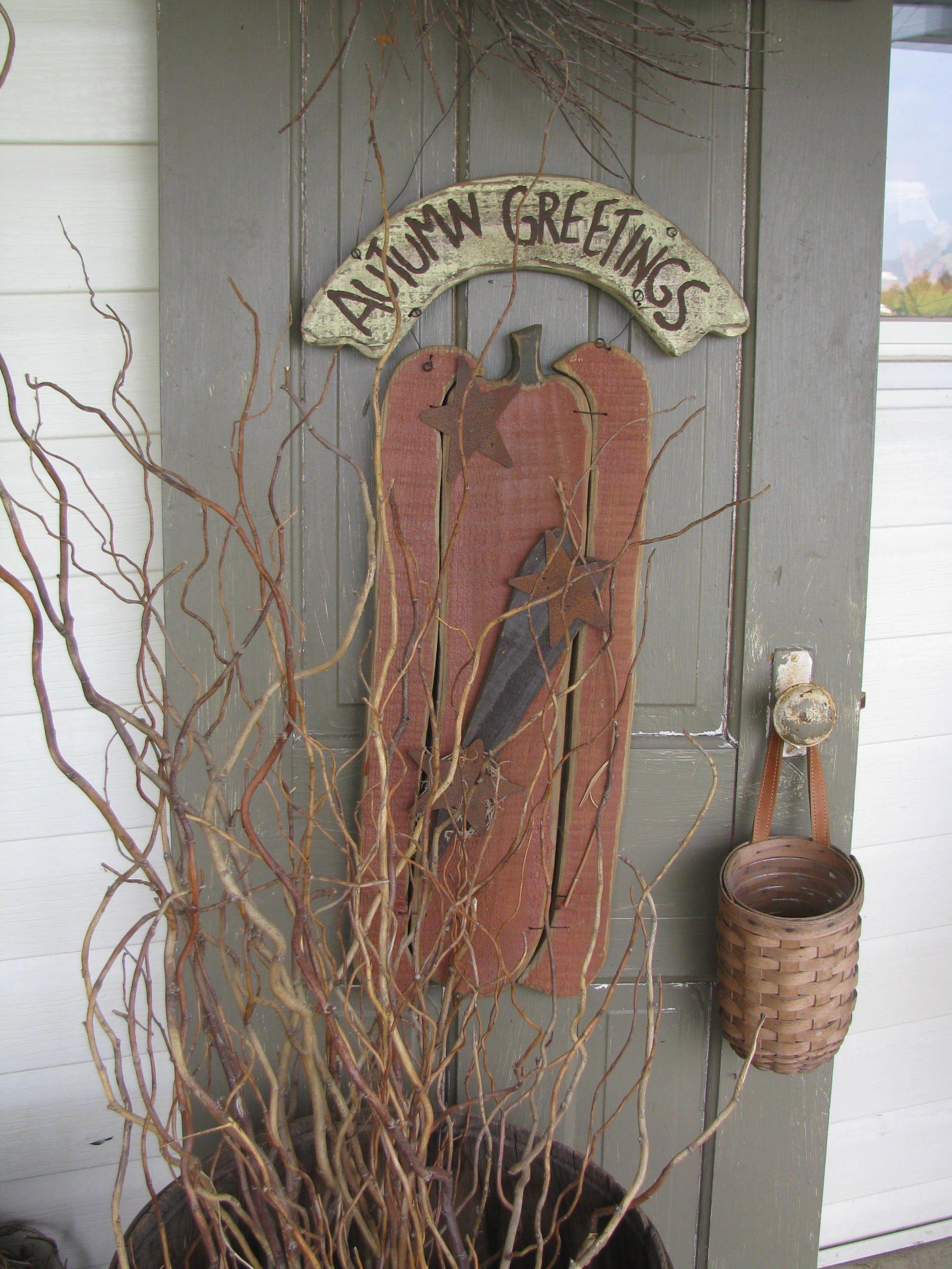 my front porch   primitive crafts   Pinterest