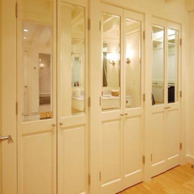 half mirrored french doors home pinterest. Black Bedroom Furniture Sets. Home Design Ideas