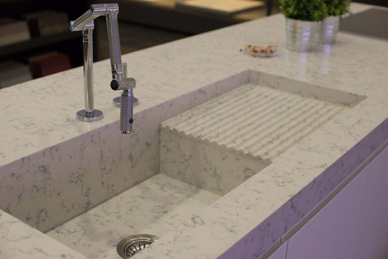 Pin by lauren joffe on interiors kitchens pinterest for Silestone sinks