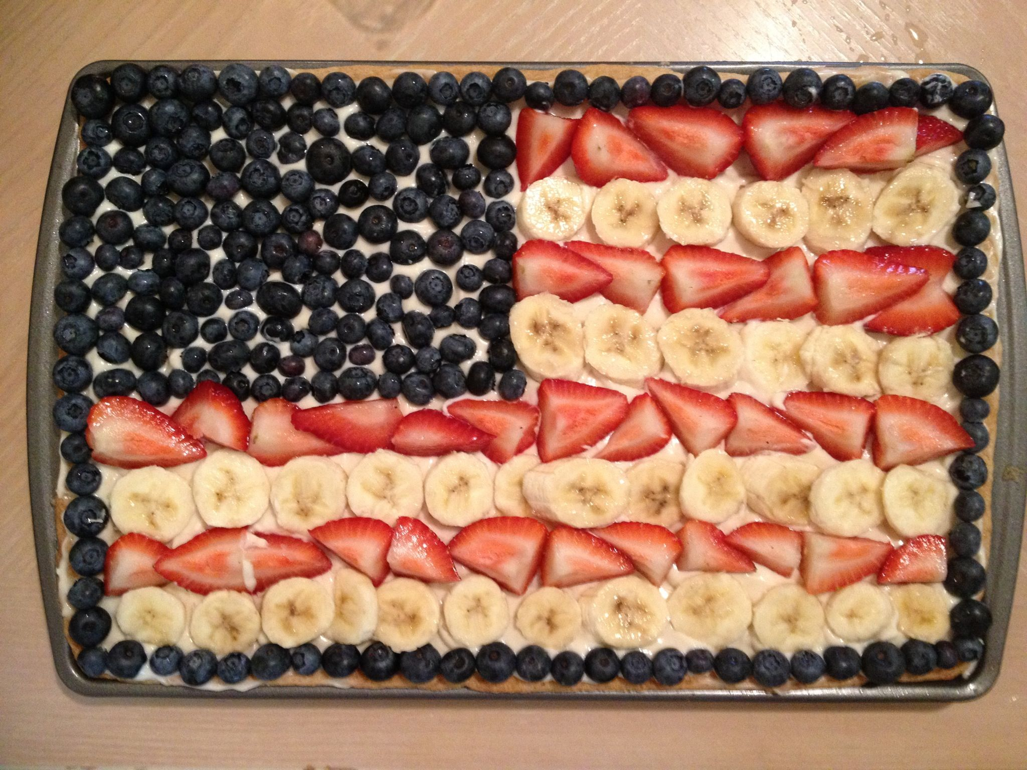 My flag fruit pizza | Food! Yum | Pinterest