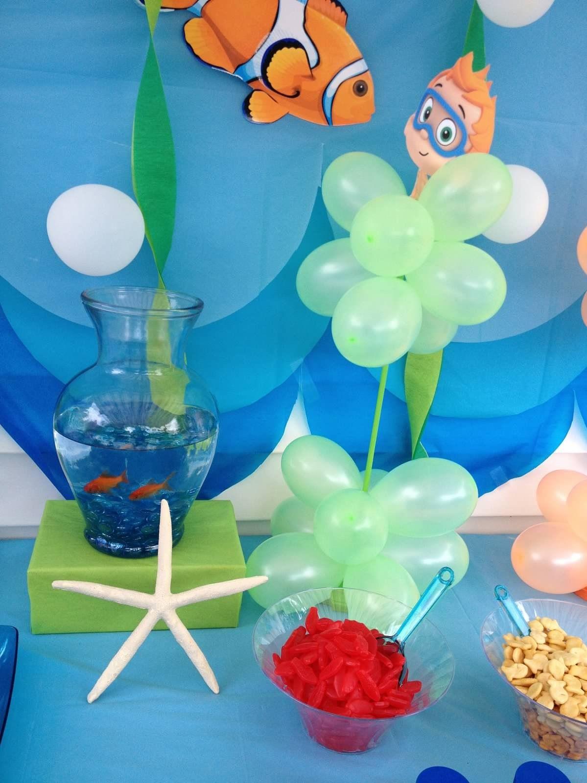 Bubble guppies decoration ideas car interior design - Bubble guppies center pieces ...