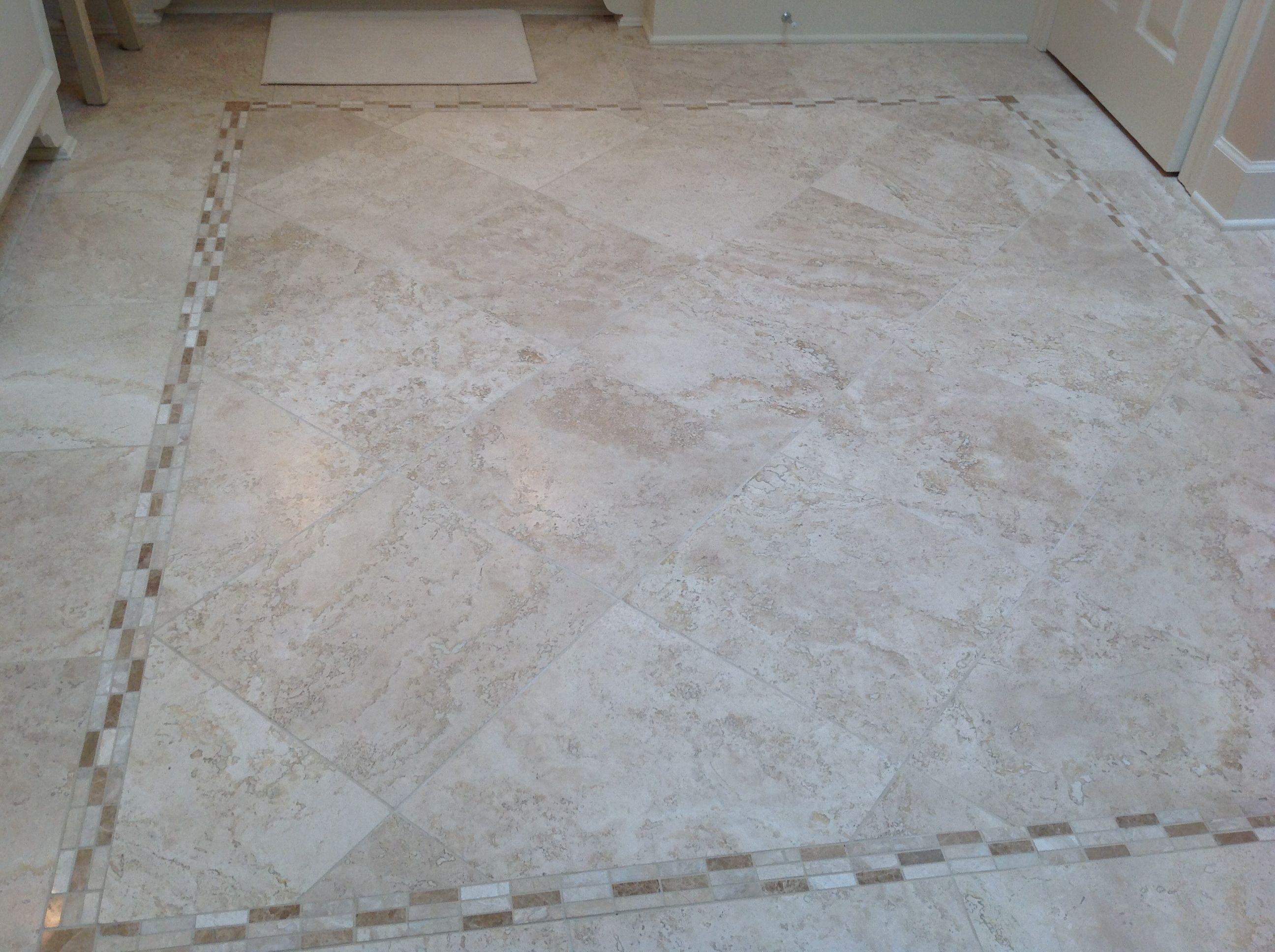 Travertine Stone Floor Bathroom Tile Pinterest