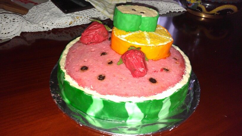 Cake Decorated With Fruits Pinterest :