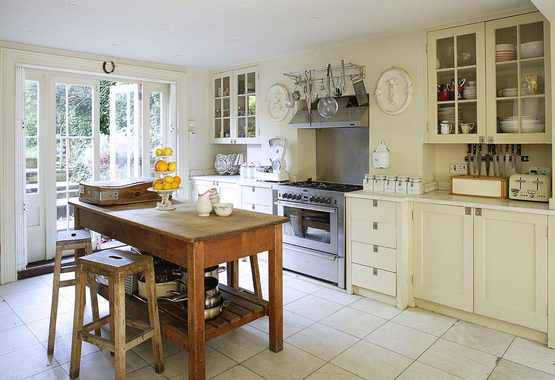 Cream color kitchen cabinets  moms kitchen  Pinterest