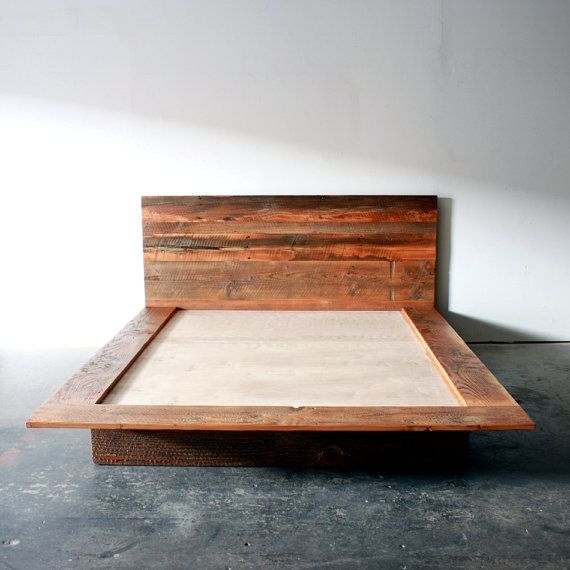 Reclaimed Wood Platform Bed Barn Wood Bed Frame by weareMFEO ...